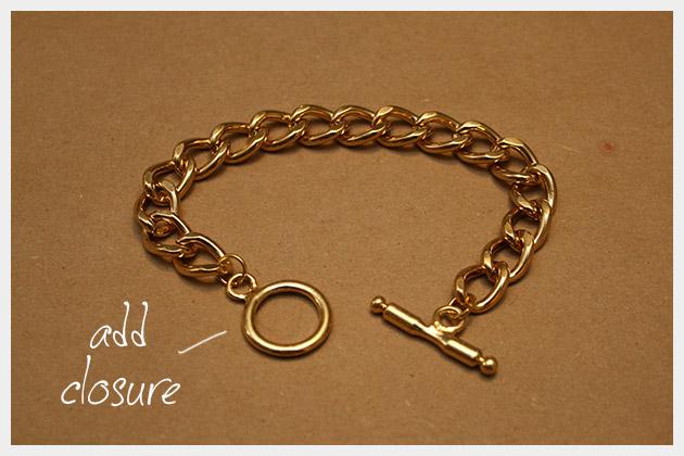 Chain and Rhinestone Bracelet DIY Closure