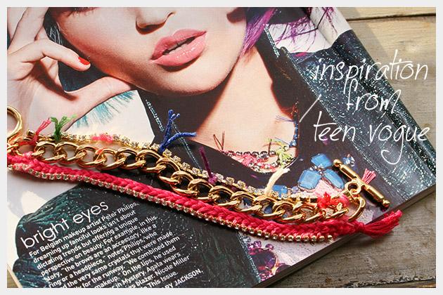 Chain and Rhinestone Bracelet DIY Inspiration