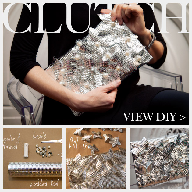 DIY Foil Clutch Feature