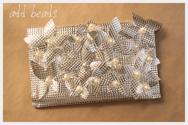 DIY Foil Clutch Finished