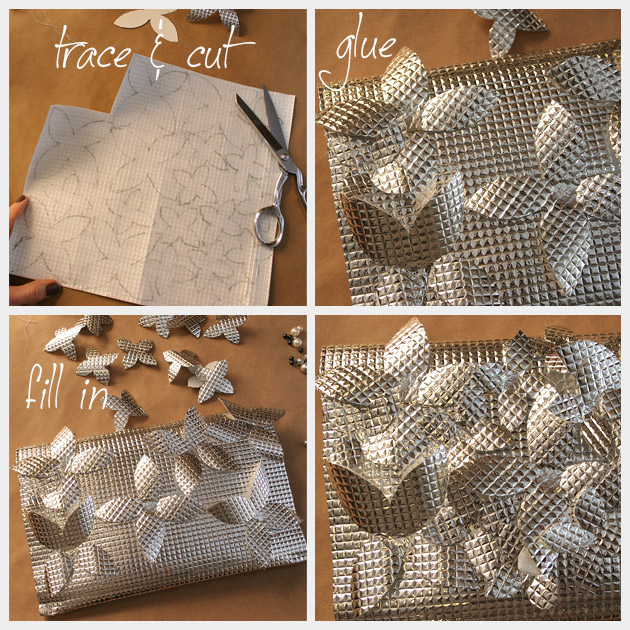 DIY Foil Clutch Flowers
