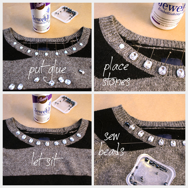 DIY Boyfriend Sweater Embellishment