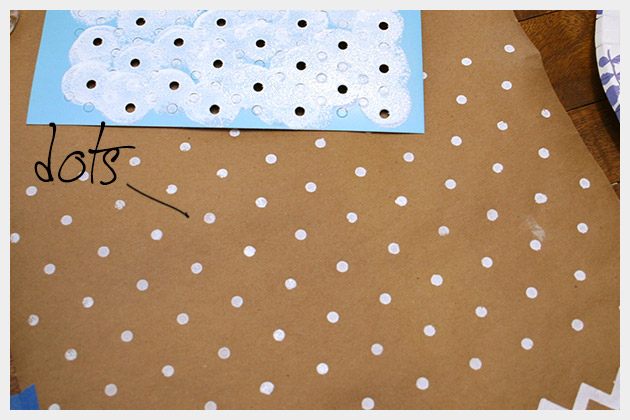 Holiday Gift Wrap DIY Dots