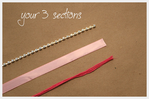 Rhinestone Braided Bracelet DIY Sections