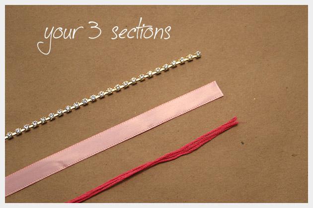 Rhinestone Braided Bracelet DIY Sections
