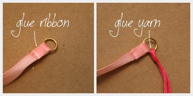 Rhinestone Braided Bracelet DIY Gluing 1