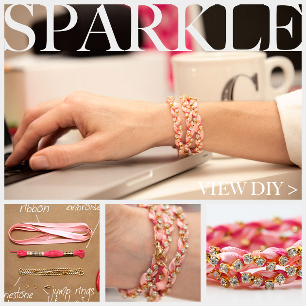 Rhinestone Braided Bracelet DIY Feature
