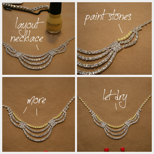 Colorful Statement Necklace DIY Painting