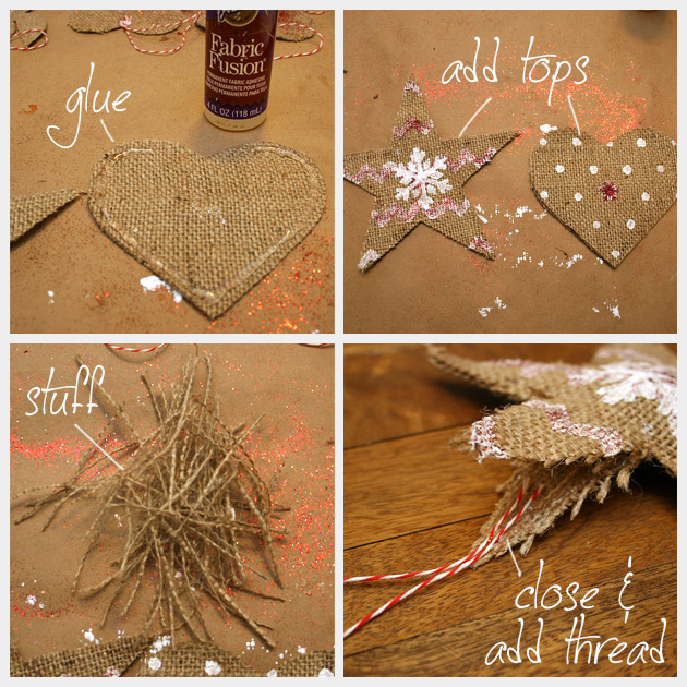 Country Ornament DIY Glueing