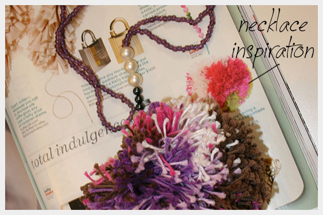 DIY Pom Pom Necklace Inspiration