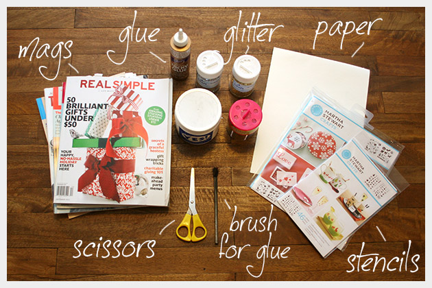 Holiday Cards DIY Supplies