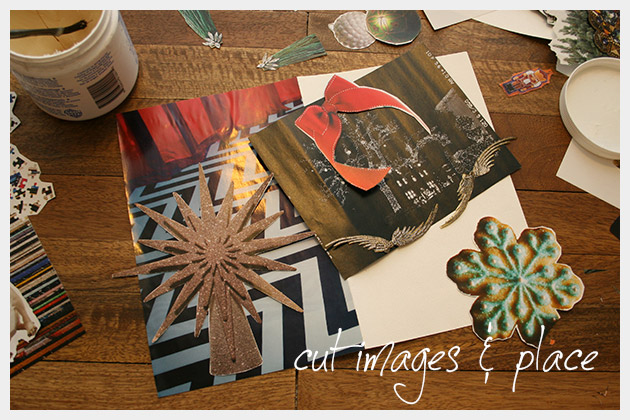 Holiday Cards DIY Collaging