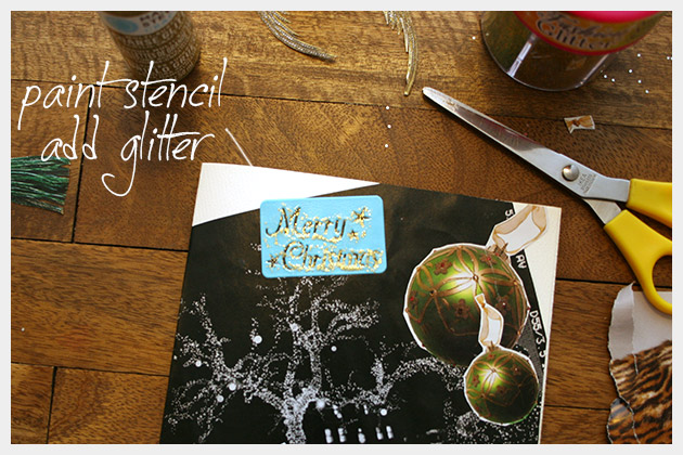 Holiday Cards DIY Stencil