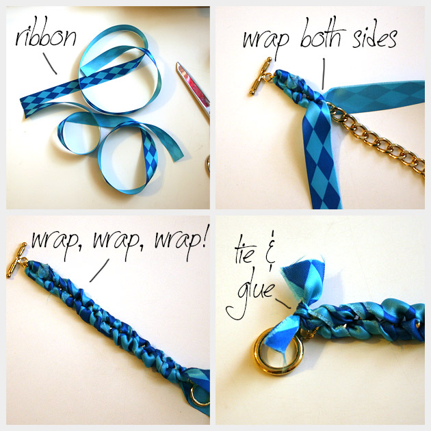 Spike Bracelet DIY Ribbons