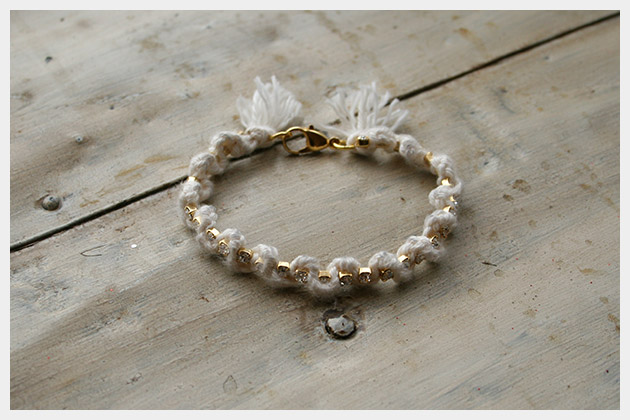 Braided Serpentine Bracelet DIY White