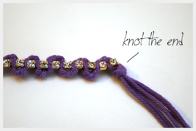 Braided Serpentine Bracelet DIY Finishing