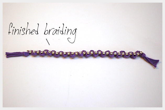 Braided Serpentine Bracelet DIY Finished Braid