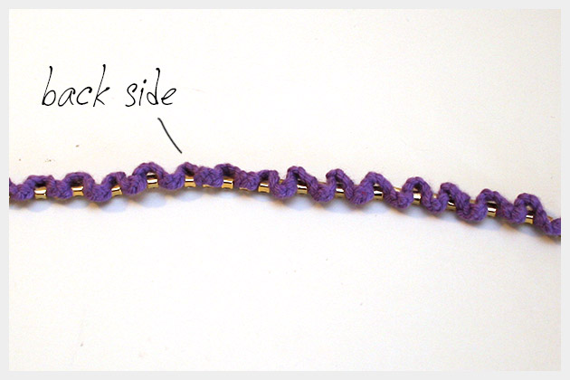 Braided Serpentine Bracelet DIY Back View