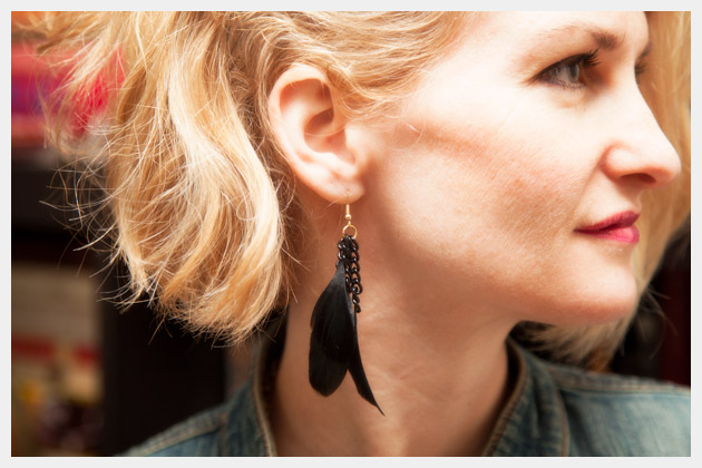 DIY Feather Earrings Photo