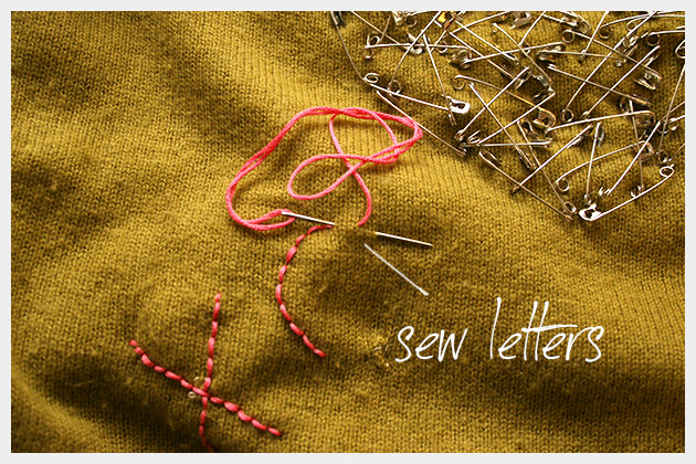 Safety Pin Heart Sweater DIY Sewing