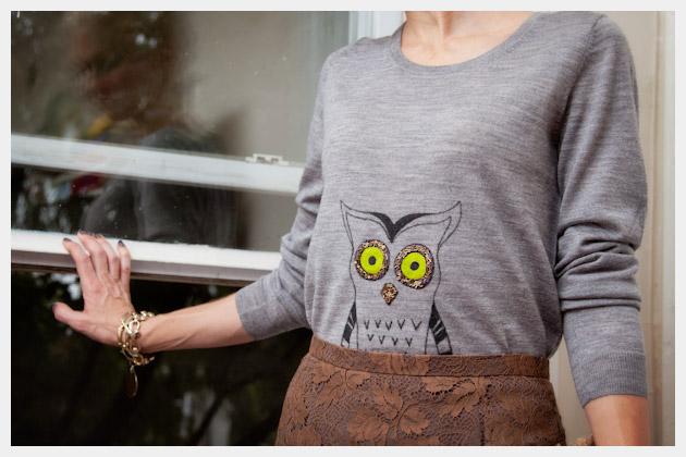 Owl Sweater DIY