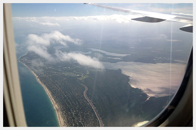 View from Plane of Cancun