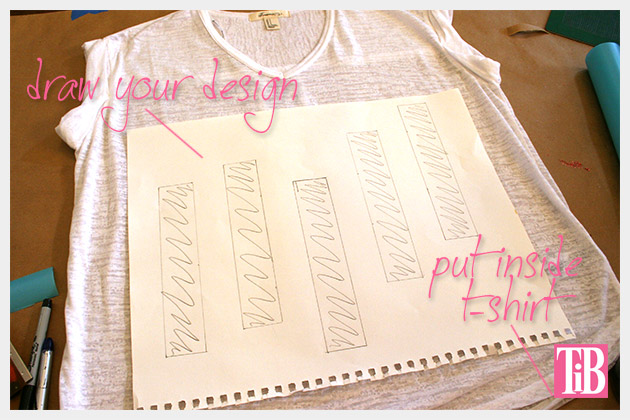 Striped Glitter T Shirt DIY Design