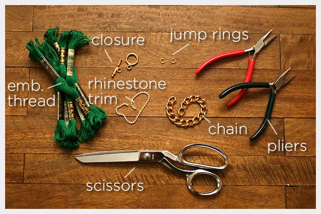 Emerald Bracelet DIY Supplies
