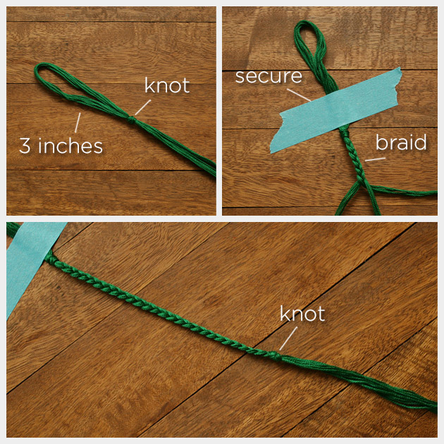 Emerald Bracelet DIY Braiding