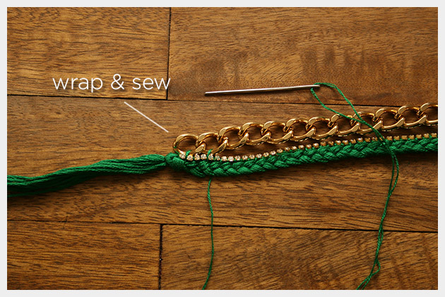 Emerald Bracelet DIY Sewing Chain