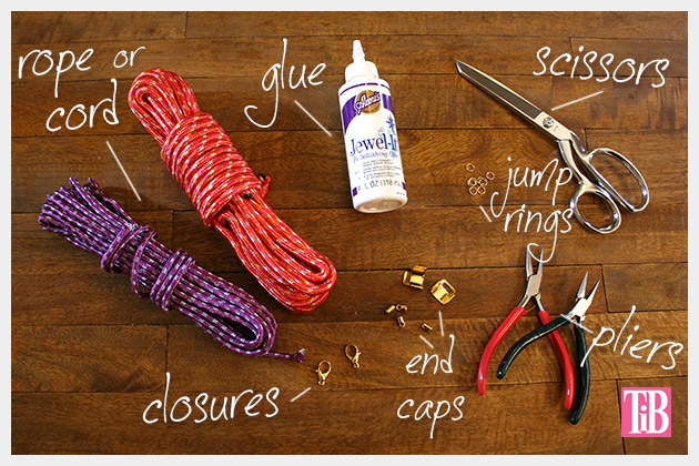 Knotted Rope Bracelet DIY Supplies