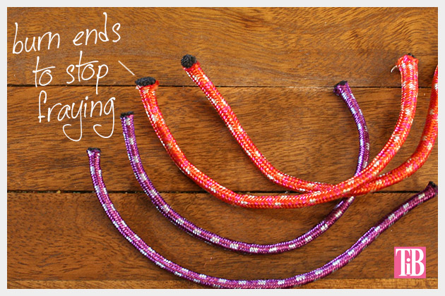 Knotted Rope Bracelet DIY Ends