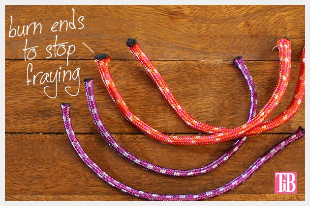 Knotted Rope Bracelet DIY Ends