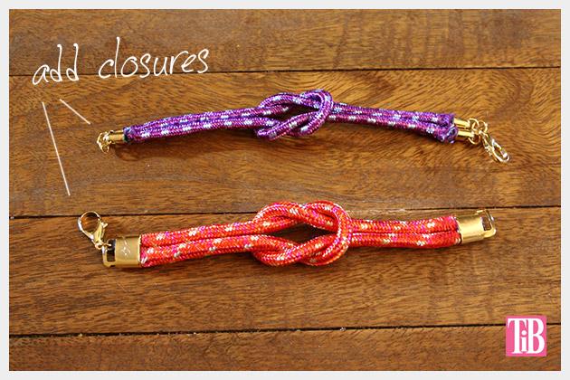 Knotted Rope Bracelet DIY Finishing