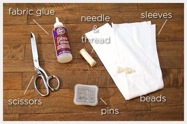 Long Gloves DIY Supplies