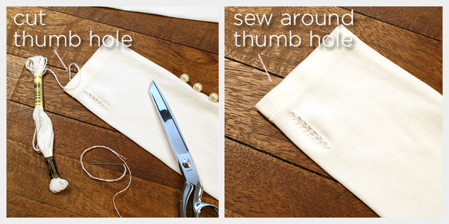Long Gloves DIY Thumb Hole