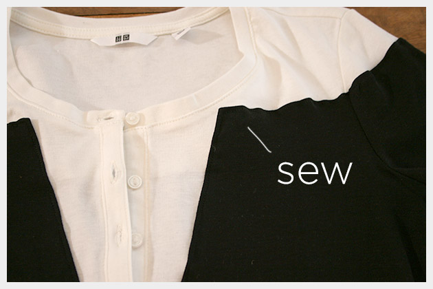 Mod Black and White T Shirt DIY Sewing