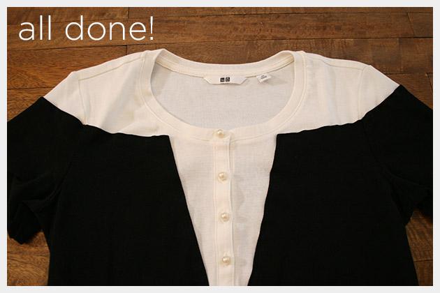 Mod Black and White T Shirt DIY