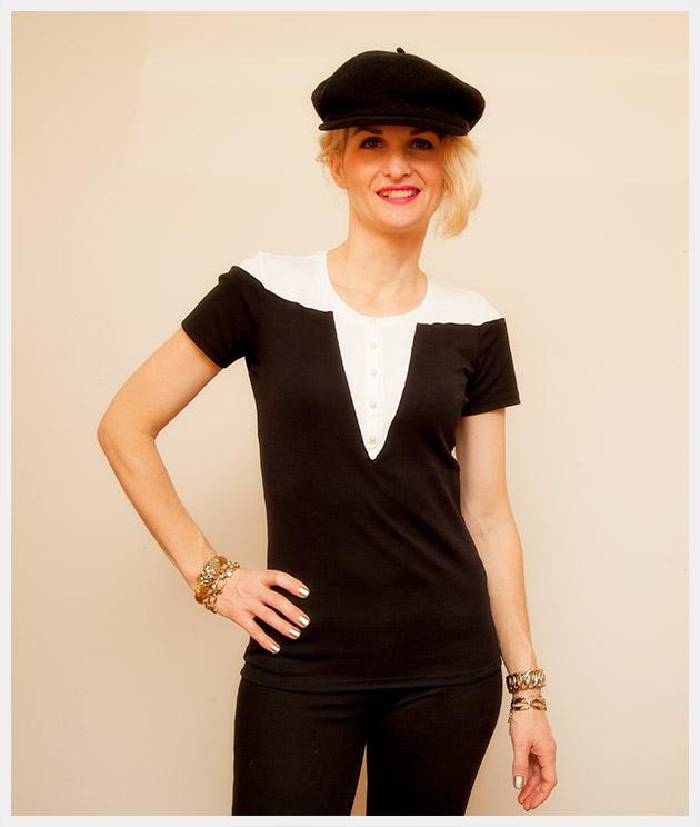 Mod Black and White T Shirt DIY Photo 2