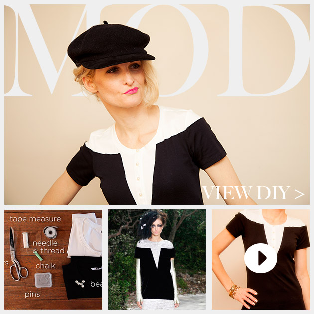 Mod Black and White T Shirt DIY Feature