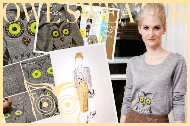 One Year Anniversary Owl Sweater
