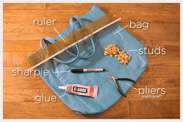 Studded Bag DIY Supplies