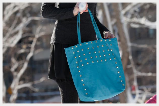 Studded Bag DIY Front