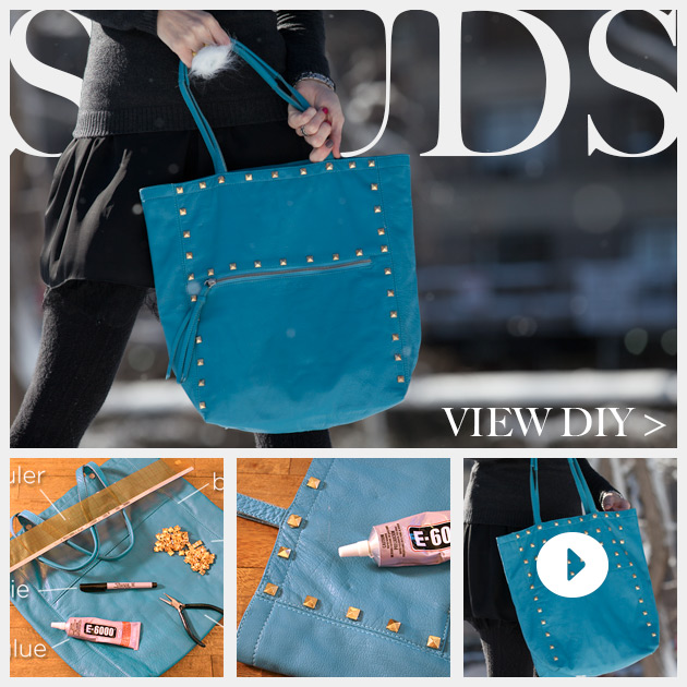 Studded Bag DIY Feature