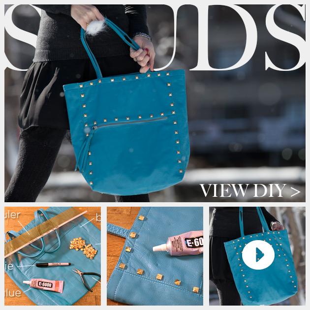 Studded Bag DIY Feature