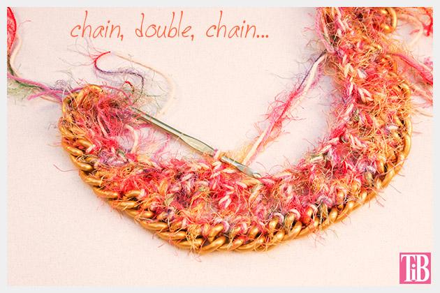 DIY Crochet Necklace Row Three