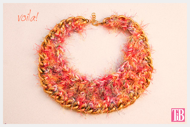 DIY Crochet Necklace Finished