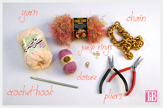 DIY Crochet Necklace Supplies