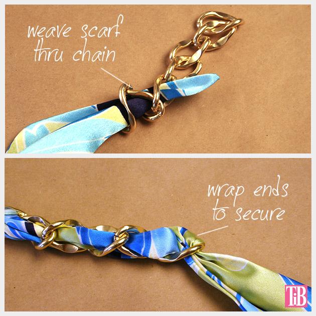 Scarf Chain Wrap Bracelet DIY Adding Chain