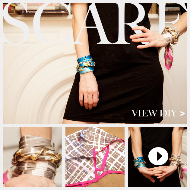 Scarf Chain Wrap Bracelet DIY Feature